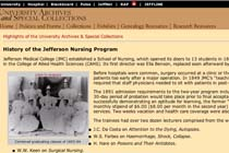 History of the Jefferson Nursing Program