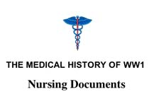 Medical History of WWI Nursing Documents