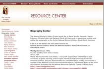 National Women's History Project Biography Center