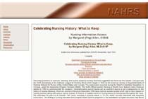Nursing and Allied Health Resources Section: Celebrating Nursing History: What to Keep