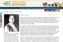 Nursing in the United States - Jewish Women's Archive