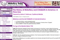 The History of Midwifery and Childbirth in America: A Time Line