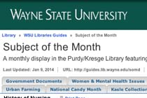 Wayne State University Library's History of Nursing
