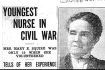 Youngest nurse in Civil War