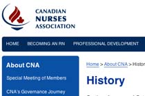 Canadian Nurses Association History