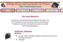 Kellogg African American Health Care Project: The Oral Histories