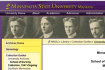 Minnesota State University, Mankato, University Archives: School of Nursing. Collection, 1947-Ongoing