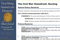 The Civil War Homefront: Nursing
