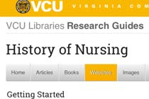 Virginia Commonwealth University History of Nursing Research Guides